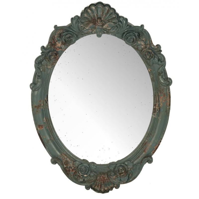Espejo valentina verde envejecido muebles y decoraci n de for Espejo envejecido