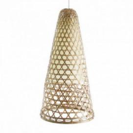 Lámpara Bambú cono colgante