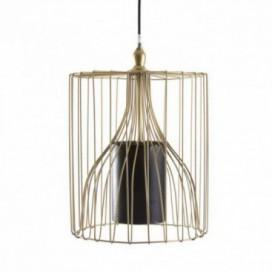 Lámpara colgante serie Iconic cilindro dorada