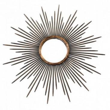 Espejo sol envejecido metal