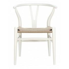 Silla CH24 blanco madera de haya