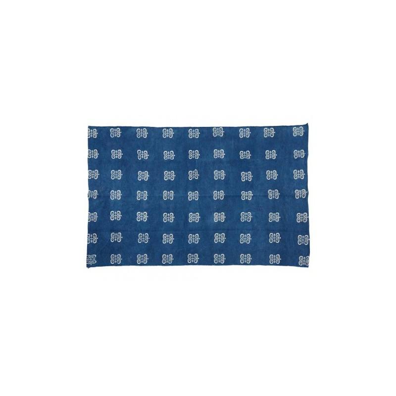 Alfombra mystic blue 100 algod n indio muebles y for Alfombras de algodon indias