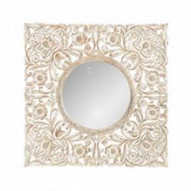 Espejo Rossi blanco rozado madera