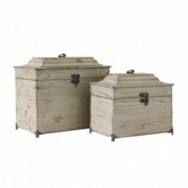 Cajas decapado natural J / 2 madera abeto