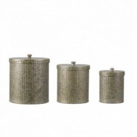 Cajas redondas con tapa zinc J / 3