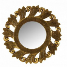 Espejo serie Oleus redondo color oro