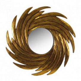 Espejo serie Oleus forma espiral color oro