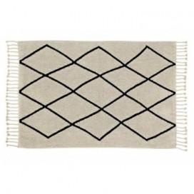 Alfombra colección Black and White rombos crema