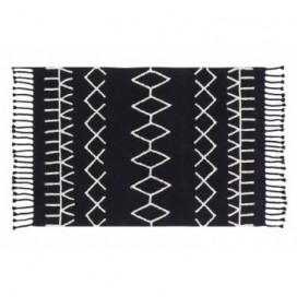 Alfombra colección Black and White color negro étnica