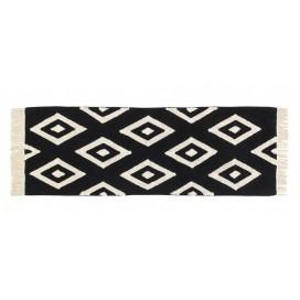 Alfombra colección Black and White color negrodiamonds pasillo