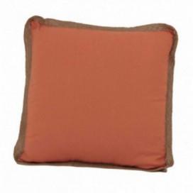 Cojín serie Tyna color naranja ribete yute