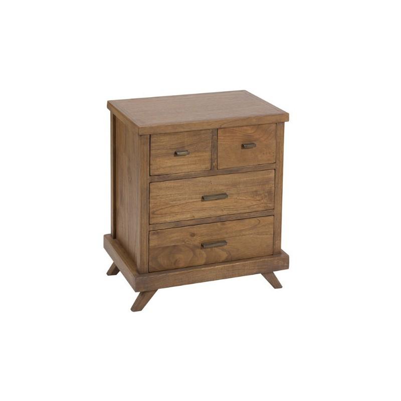 Mesita de noche cosmic madera acacia estilo retro muebles - Mesitas de noche de diseno ...