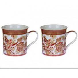 Set 2 tazas Shangai color rojo
