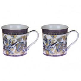 Set 2 tazas Shangai color azul