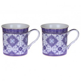 Set 2 tazas Dream Blue color blanco