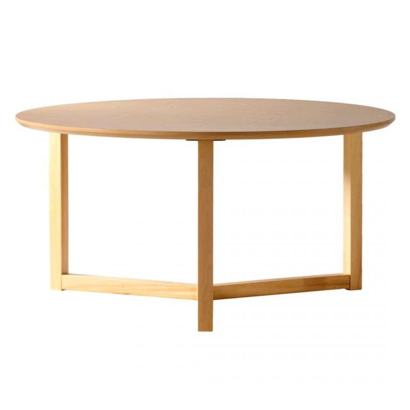Mesa de centro leo redonda madera fresno estilo n rdico for Mesa centro estilo nordico