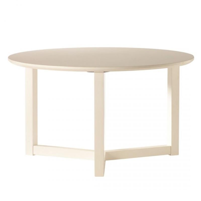 Mesa de centro leo redonda madera lacado blanco de estilo n rdico muebles y decoraci n de dise o - Mesa centro redonda ...