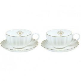Set de 2 tazas Sisí blanco porcelana