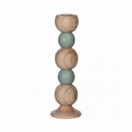 Candelabro Ulma 26cm color natural y verde