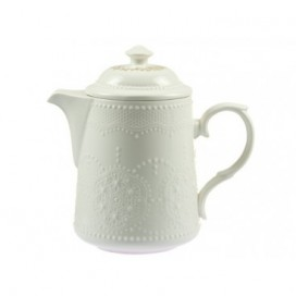 Tetera Prince color blanco porcelana