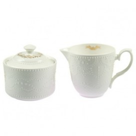 Lechera y azucarero Prince blanco porcelana