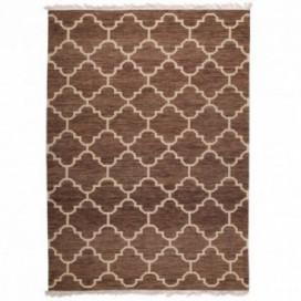 Alfombra Pantic lana marrón