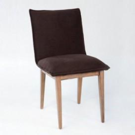 Silla Cormin madera / tela negro
