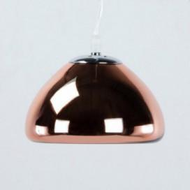 Lámpara techo cristal rosa