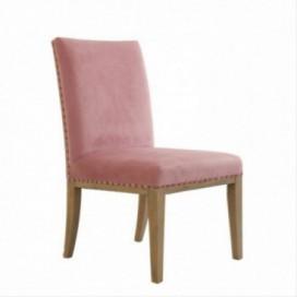 Silla Rosete color rosa madera de pino y poliéster