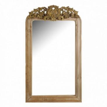 Espejo Bridgette tallado natural detalles oro