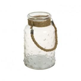 Lantern cristal con asas de estilo provenzal
