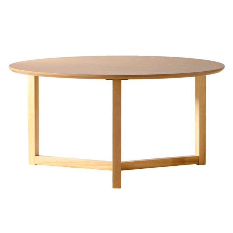 Mesa de centro leo redonda madera fresno estilo n rdico muebles y decoraci n de dise o - Mesas de centro redondas amazon ...