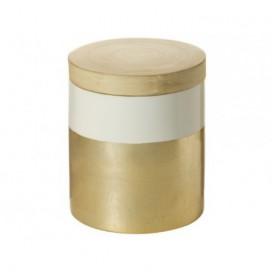 Caja con tapa Champagne bambú nórdico 20cm