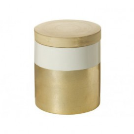 Caja con tapa Champagne bambú nórdico 13cm