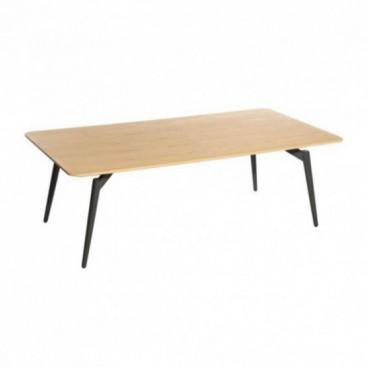 Mesa centro n rdica rectangular natural madera for Mesas de centro baratas