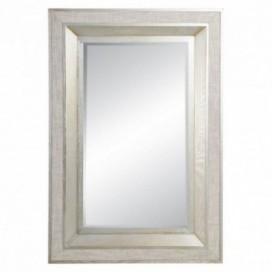 Espejo Champán rectangular madera / cristal forrado lino