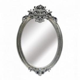 Espejo Draley romántico ovalado color plata