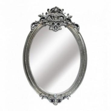 Espejo rom ntico ovalado color plata vieja - Espejos color plata ...