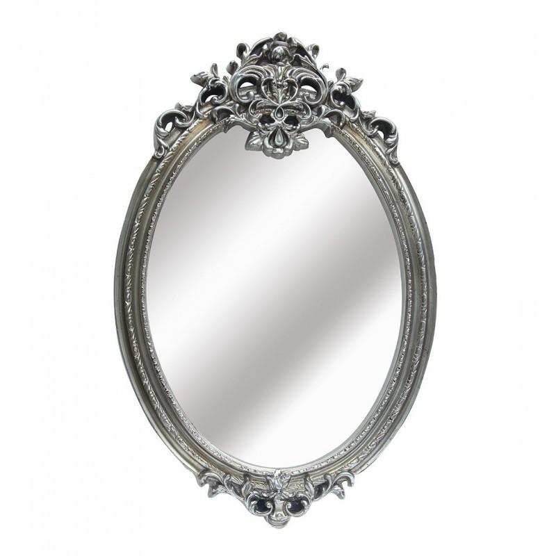 Espejo rom ntico ovalado color plata vieja for Espejos color plata