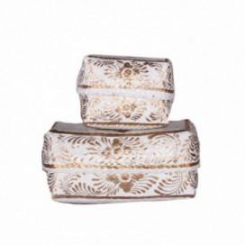 Caja decorativa J/2 Umbu oro rattan