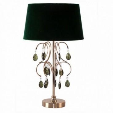 Lámpara sobremesa Verdus vidrio c/pantalla poliéser verde