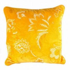 Cojín Sauvage color amarillo algodón