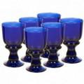 Juego 6 copas agua Blue vidrio