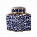 Tibor serie Zen tamaño pequeño color blanco, azul y oro