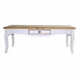 Mesa centro Select blanco /oro madera paulownia