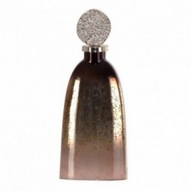 Botella de tocador Cuarzo grande color plata/oro acabado degradado