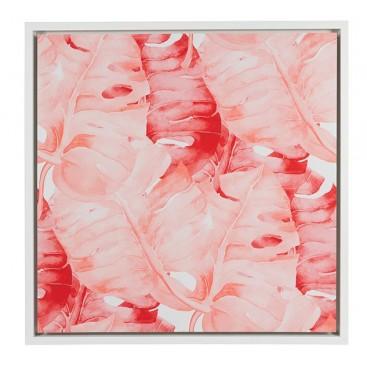Cuadro Pink hojas