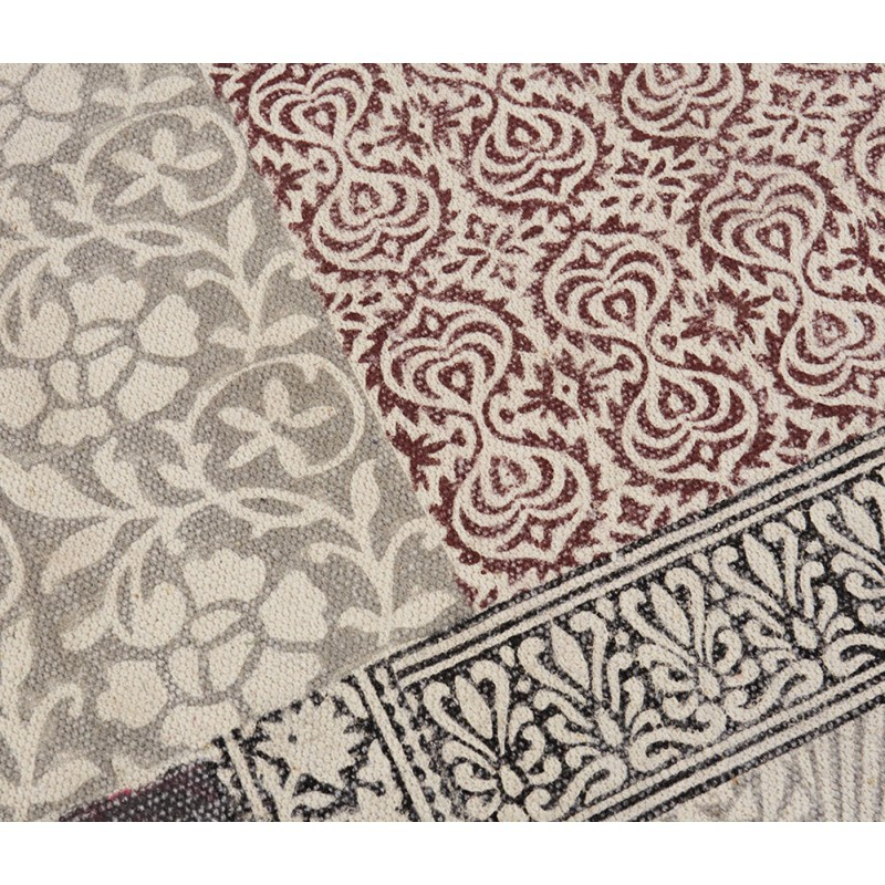 Alfombra patchwork 100 algod n indio muebles y - Alfombras de algodon ...