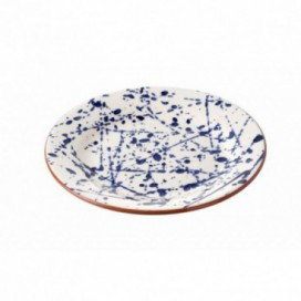 Plato post serie Blue cerámica