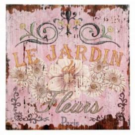 Cuadro Fleurs vintage color rosa